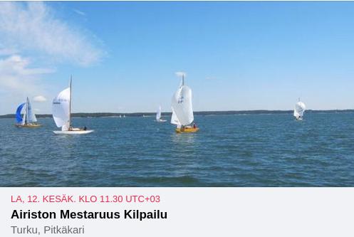 Airiston Mestaruus Kilpailu purjehditaan tänä vuonna matkakilpailuna.
